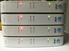 x4 - AT T 2WIRE 2701HG B Gateway WIRELESS modem ROUTER DSL WiFi ethernet... - $47.48