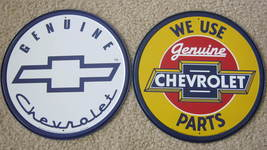 lot of 2 Genuine Chevrolet Chevy round METAL TI... - $28.50