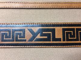 d76c133b85 Authentic Yves Saint Laurent YSL Canvas Leather Vintage Tribal Clutch Bag -  £294.82 GBP