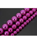 NonMagnetic Metallic Magenta Fuchsia Hematite Gemstone Round Beads 6mm 8... - $3.34+