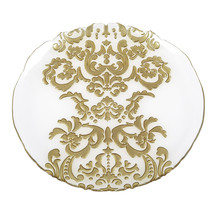 Damask Set/2 Glass Tray & Charger Plate - $79.00