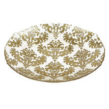 Damask Large Glass Centerpiece Bowl - £53.37 GBP