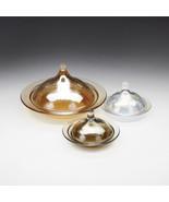Rabat Set/2 Glass Covered Plates - $29.00