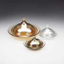 Rabat Large Set/2 Glass Covered Plates - $59.00