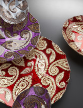 Paisley Large Glass Oval Bowl - $49.00
