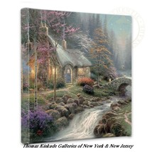 "Thomas Kinkade Cottage Wrap - Twilight Cottage 14"" x 14"" Wrapped Canvas - $75.00"