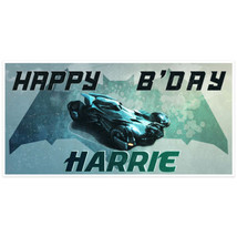 Hollywood Cars Batmobile BvS Birthday Banner Pe... - $22.50