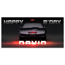 Hollywood Cars Night Rider Birthday Banner Pers... - $22.50