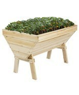 Outdoor Garden Bed Raised Vegetable Planter Flower Kit Box Elevated Soli... - £107.83 GBP