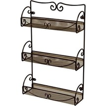 Bathroom Wall Organizer 3 Tier Shelf Wall-Mounted Storage & Spice Rack B... - $23.60