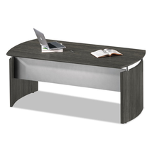 NEW! Grey Steel Curved Desk Base (72-inch wide ... - $514.99