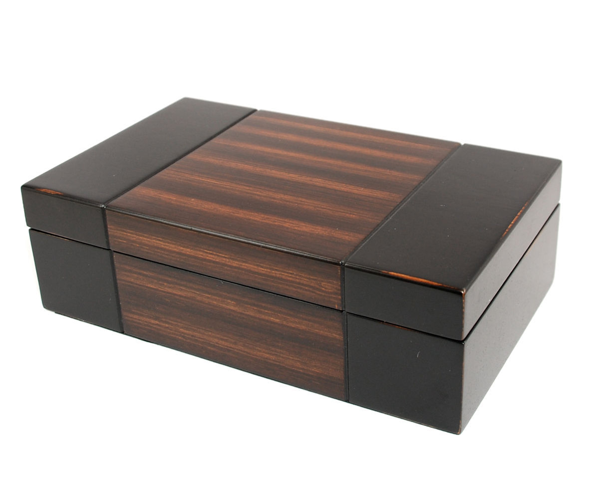 Bombay Dark Walnut WOOD MENS JEWELRY BOX / STORAGE / ORGANIZER NEW GIFT
