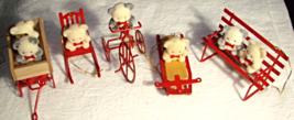 Vintage Avon Bear Collection Ornaments--5 pcs - $20.00
