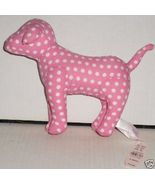 VICTORIA'S SECRET Plush DOG PINK white Dots w/h... - $44.99