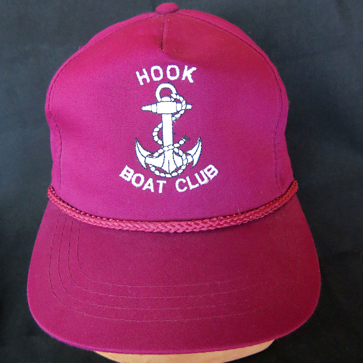 2928b376973 Vintage Hook Boat Club Snapback Hat Cap Rope and 50 similar items
