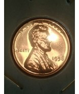 1958 Lincoln Cent Gem Proof - Bright Red Beauti... - $9.99