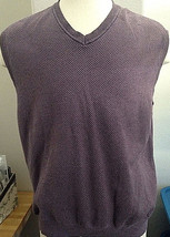 Tasso Elba Purple Cotton Sweater Vest XL - $23.75