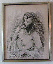 "Vintage 1971 Untitled ""Nude Woman"" Signed Sandu, by Artist Sandu Liberma... - $329.99"