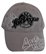 Las Vegas Men's Curved Brim Adjustable Baseball Cap GRAY - $9.95