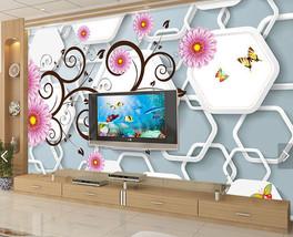 3D Curly Zweige, Blumen 2677 Fototapeten Wandbild FototapeteBildTapete Familie - $52.21+