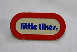 Little Tikes Vintage Plastic Name Plate Replacement Oval Red Blue Toy Lo... - $9.35