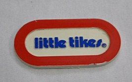 Little Tikes Vintage Plastic Name Plate Replacement Oval Red Blue Toy Lo... - $5.93