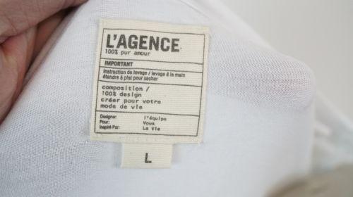 L'AGENCE | Gathered Back Jersey T-Shirt Dress women's sz L - $125 white L6965RSJ image 5