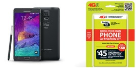 "Straight Talk Samsung Galaxy Note 4 ""Black"" Runs on Verizon's 4g Xlte Towers ... - $239.97"