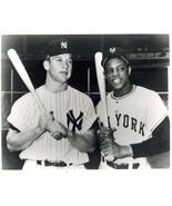 Mickey Mantle Willie Mays Yankees Giants 4 Vintage 8X10 BW Baseball Photo - $4.99