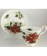 Royal Albert Poinsettia Cup & saucer - $15.00