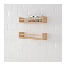 Spice Rack Wall Shelf Wood Birch NWT, Set Of 2,... - $29.02