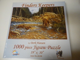 Suns Out Puzzle Finders Keepers Bear & Cubs Derk Hansen New &Sealed 1000 Pcs - $26.72