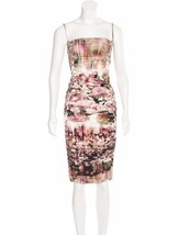BODY HUGGING NEW JEAN PAUL GAULTIER FEMME RUCHED DRESS WITH BRAIDED DETA... - $495.00