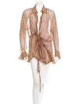 Beautiful New $2,025 Silk Striped J EAN Paul Gaultier Femme Jacket - $445.50