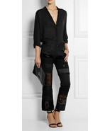 CRAZY COOL, SOLD OUT, NWT $995 JUNYA WATANABE BLACK PATCHWORK PANTS - $402.75