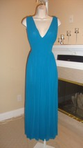 Gorgeous Blue Mesh GRECIAN-STYLE Maxi Dress By J EAN Paul Gaultier - $295.00
