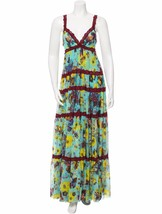 GORGEOUS NEW $1,395 JEAN PAUL GAULTIER LACE TRIMMED MESH MAXI DRESS  - $895.00
