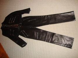 SPECTACULAR NEW & RARE $10,340 BLACK LEATHER DOLCE & GABBANA ZIPPER PANT... - $4,495.50