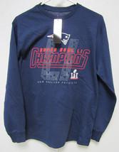 Nfl Focus Design Super Bowl Li Champs New England Patriots Long Sleeve T-SHIRT M - $34.95