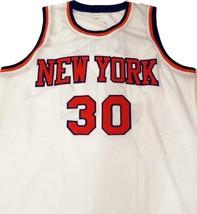 Bernard King #30 New York Basketball Jersey Sewn White Any Size image 3