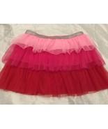 Red & Pink 3-tier Girls Skirt Sz XL 14-16 Elastic Waist NEW - $9.99