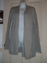 J Crew Factory Warmspun Cardigan MEDIUM M Sweater Gray Open Front C8699 - $37.04