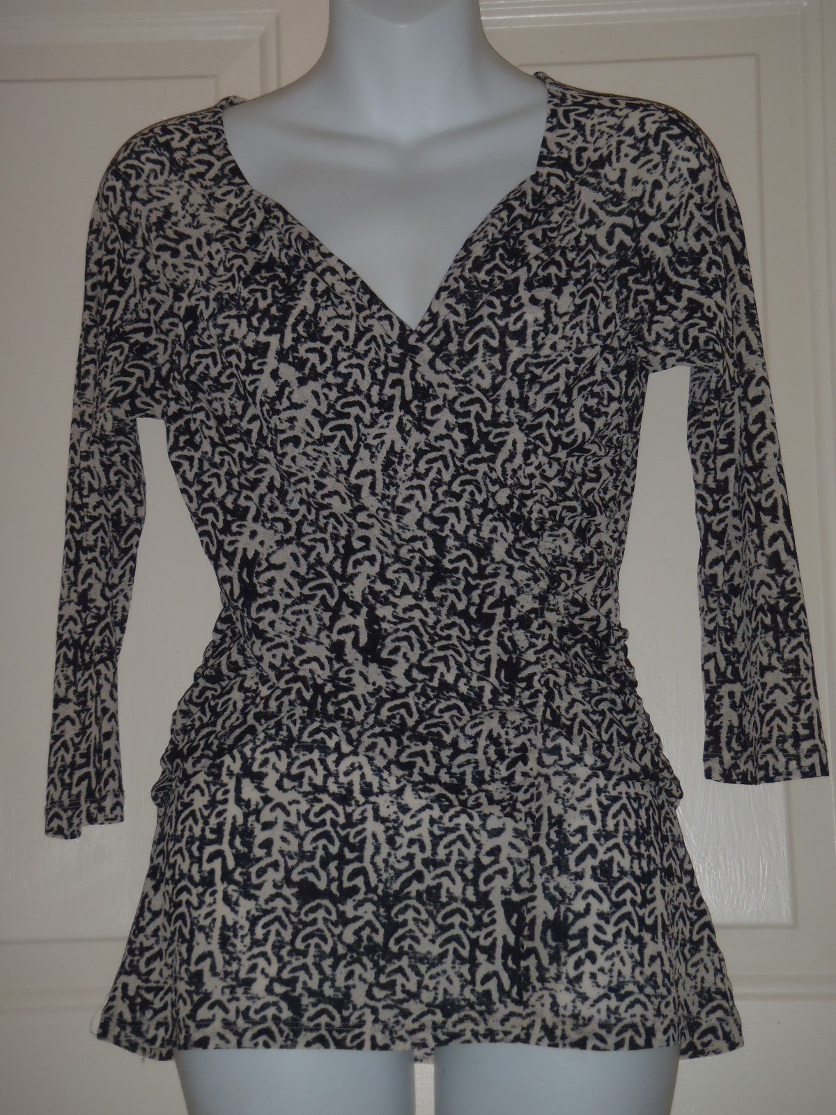 74f049d79413df Anthropologie Meadow Rue Black Cream Printed and 50 similar items