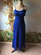 Blondie and Me Benign Womens Blue Tiered Dress Size 3/4 - $9.89