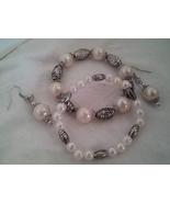 Antique Silver Stretch Bracelet Earrings Women - $12.00