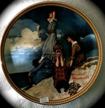 "Collector Plates By Norman Rockwell "" Waiting on the Shore "" - $17.82"