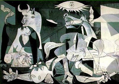 PICASSO 1955 LITHOGRAPH +COA, £ RARE ART € Pablo Picasso best ever work GUERNICA
