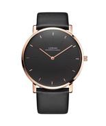 Ultrathin 6.5mm Minimalist Men's Wrist Watch Luxury Elegant Quartz Leath... - $64.59
