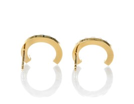 AUTH CHRISTIAN DIOR Pearl Your Dior Earrings Gold image 3