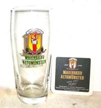 2 Maier Brau Altenmunster 0.5L German Beer Glas... - $14.95